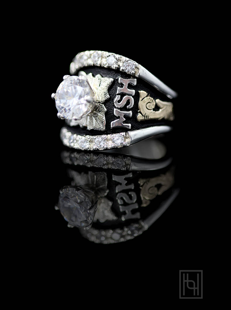 Custom Texas Solitaire Ring Custom Amp Class Rings By Hyo