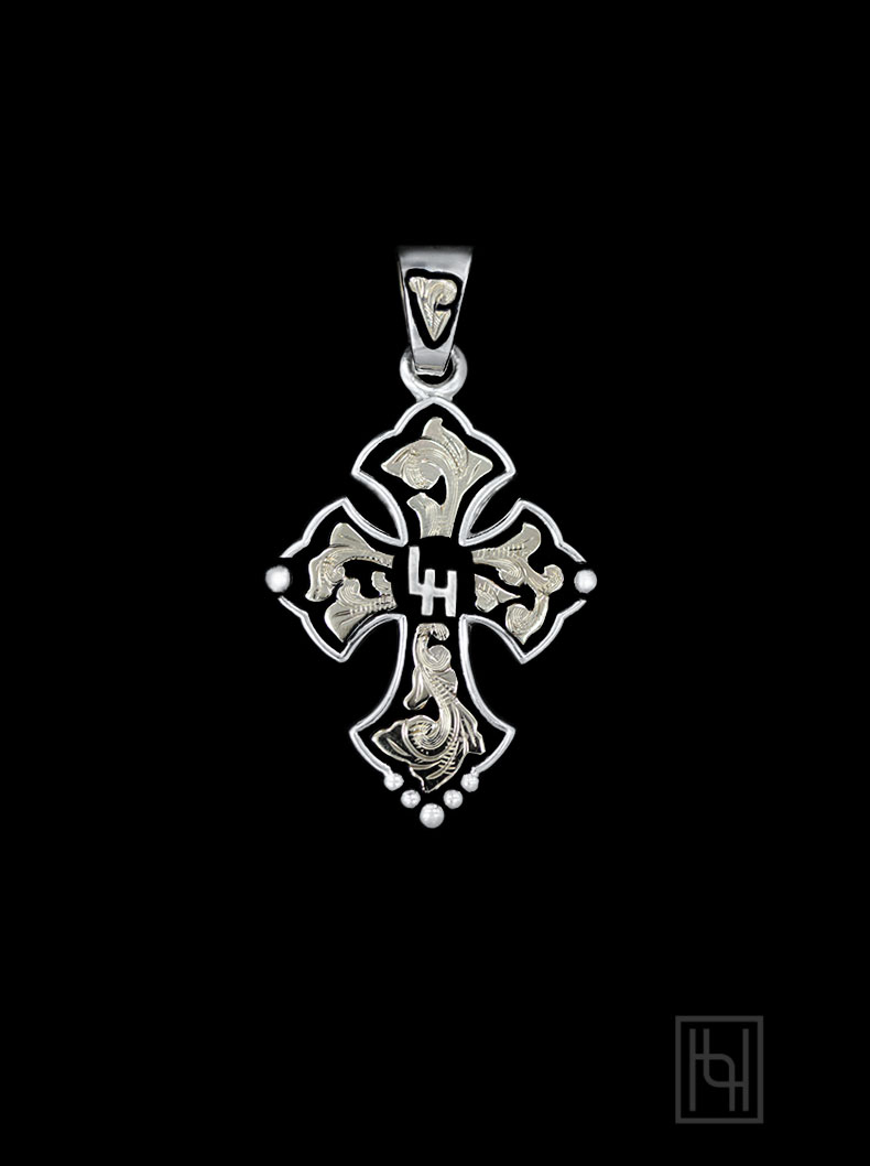 Custom budded cross pendant personalized jewelry by hyo silver custom budded cross pendant aloadofball