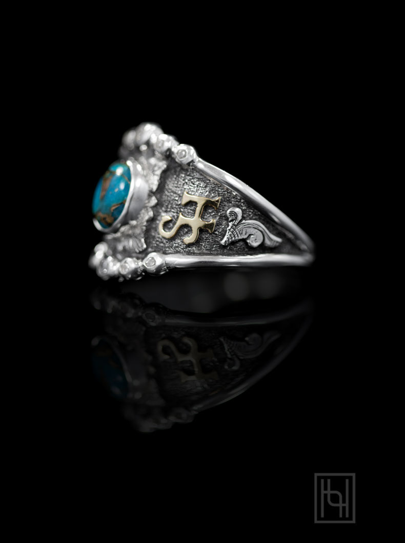 Personalized RimRock & Crystal Ring